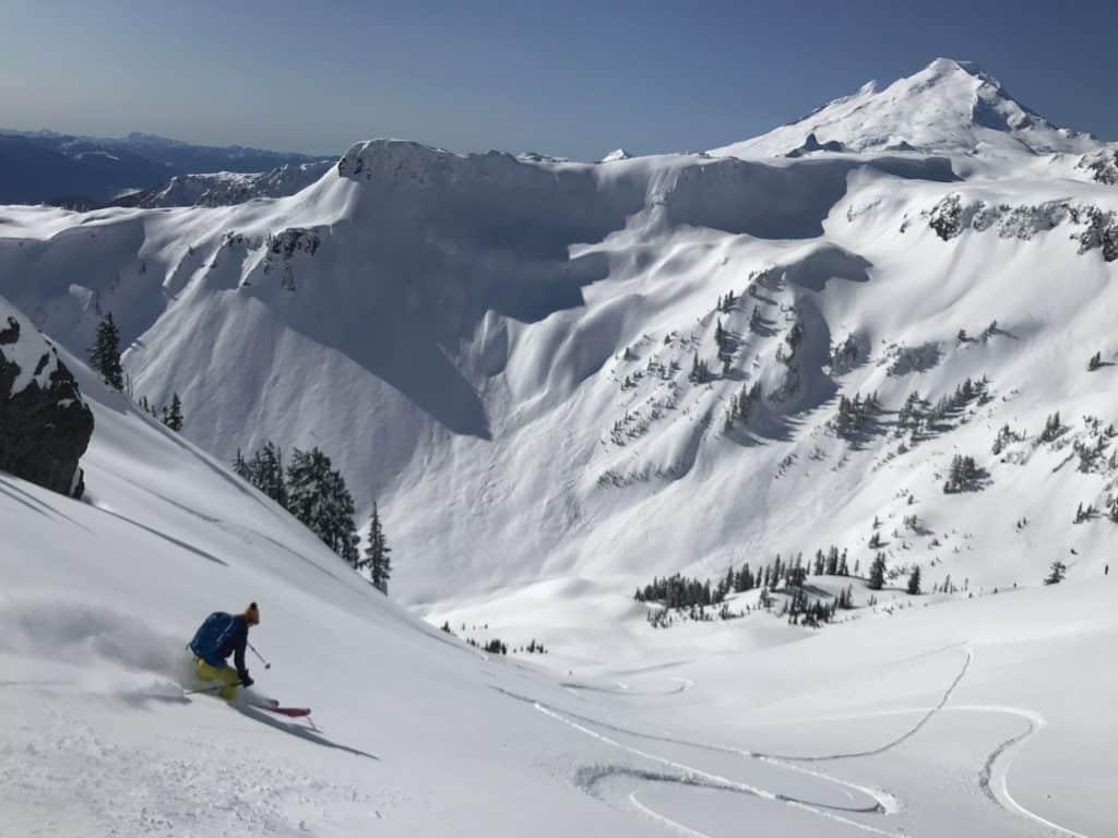Backcountry skiing in Washington