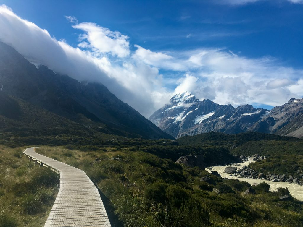Hooker Valley Track in New Zealand