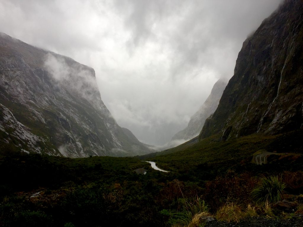 Drive to Milford Sound in New Zealand