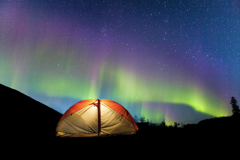 Zach Baranowski Photography Tent Yukon Aurora