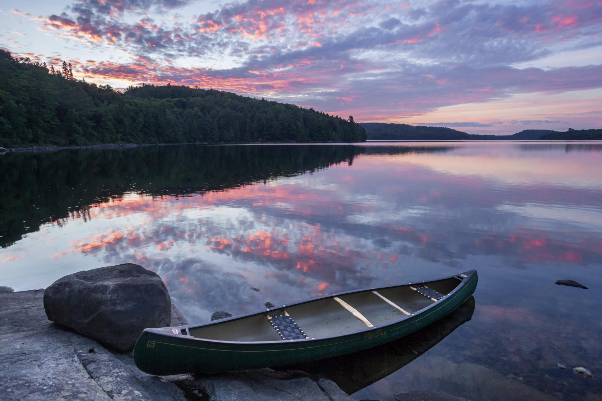 Zach Baranowski Photography Sunset Canoe