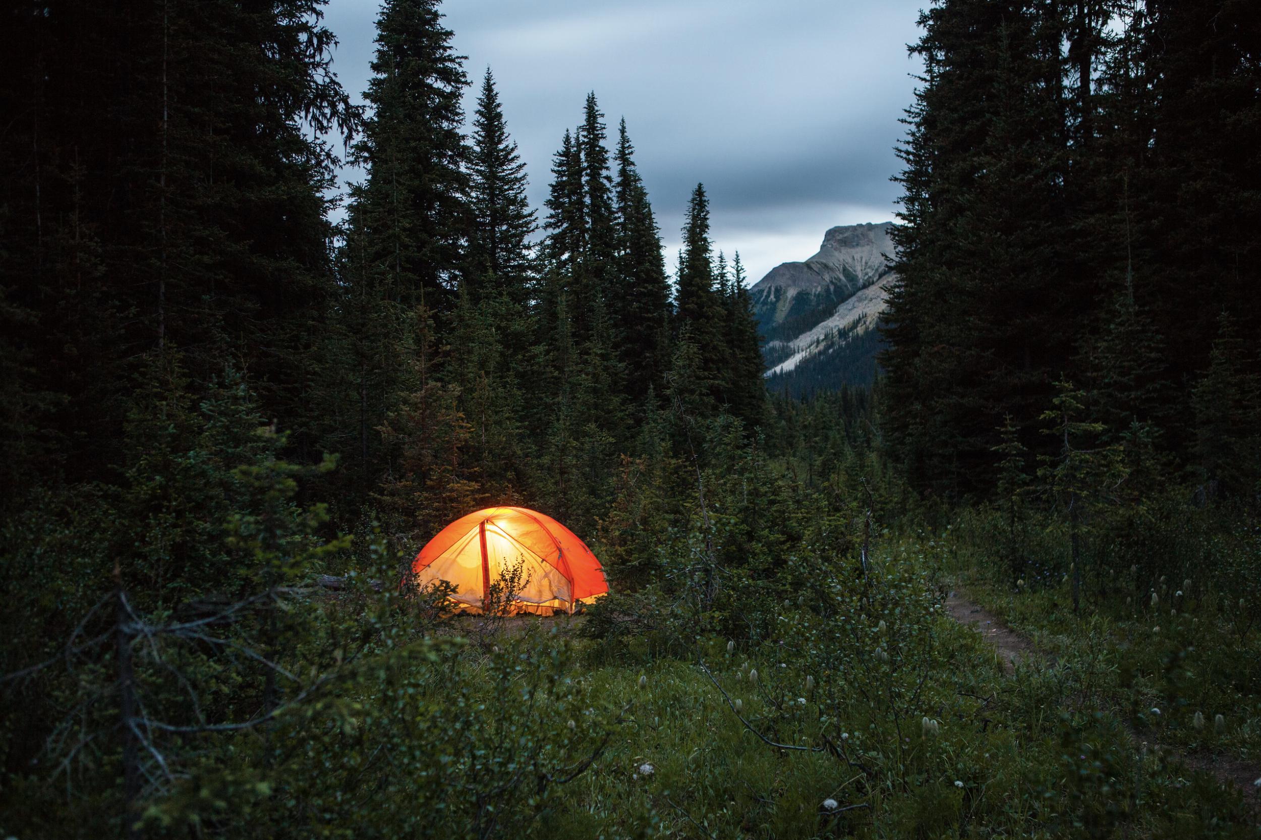 Zach Baranowski Photography Tent Camping Outside