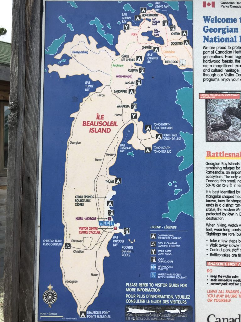 Georgian Bay Islands National Park Map
