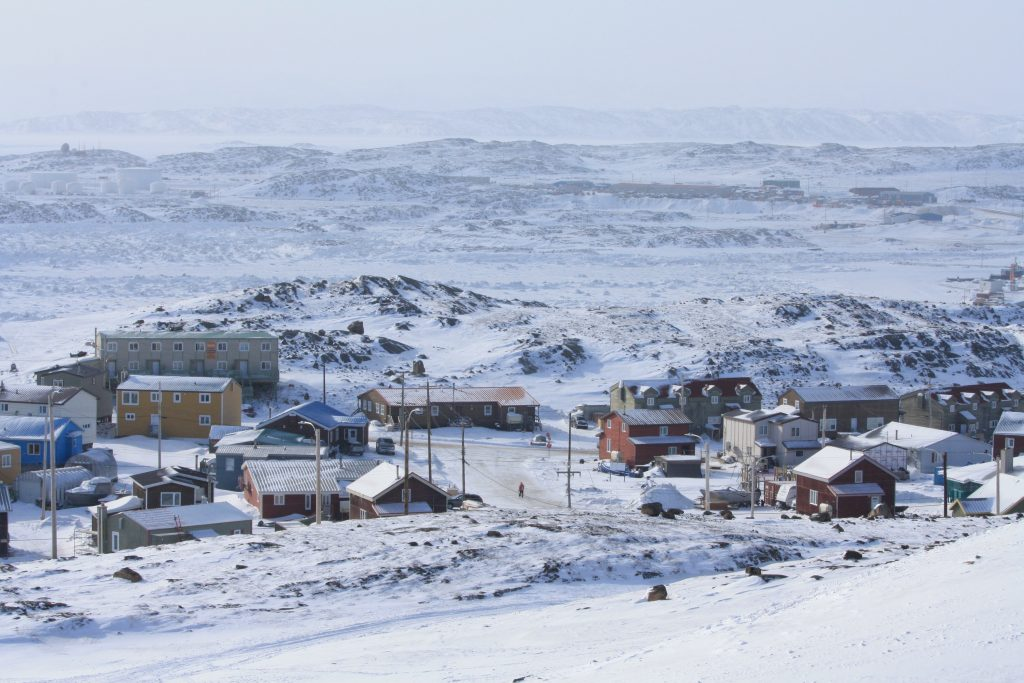 View of the houses in Iqaluit, Nunavut