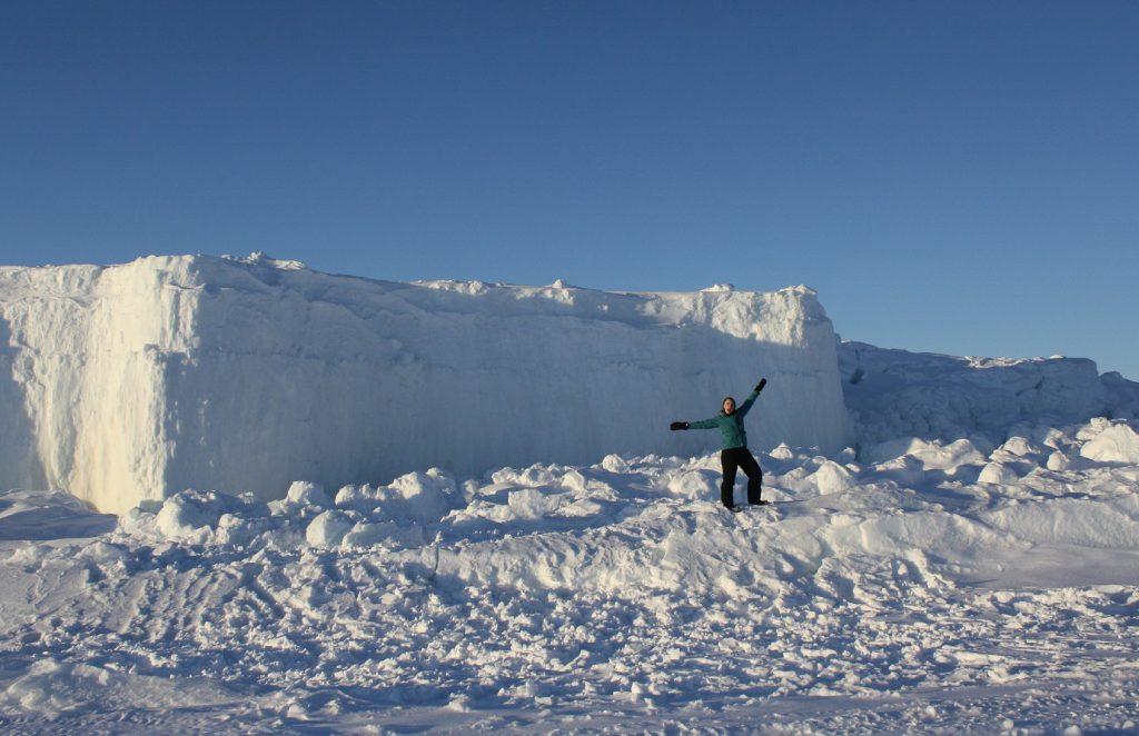 Frozen Arctic Ocean in Iqaluit