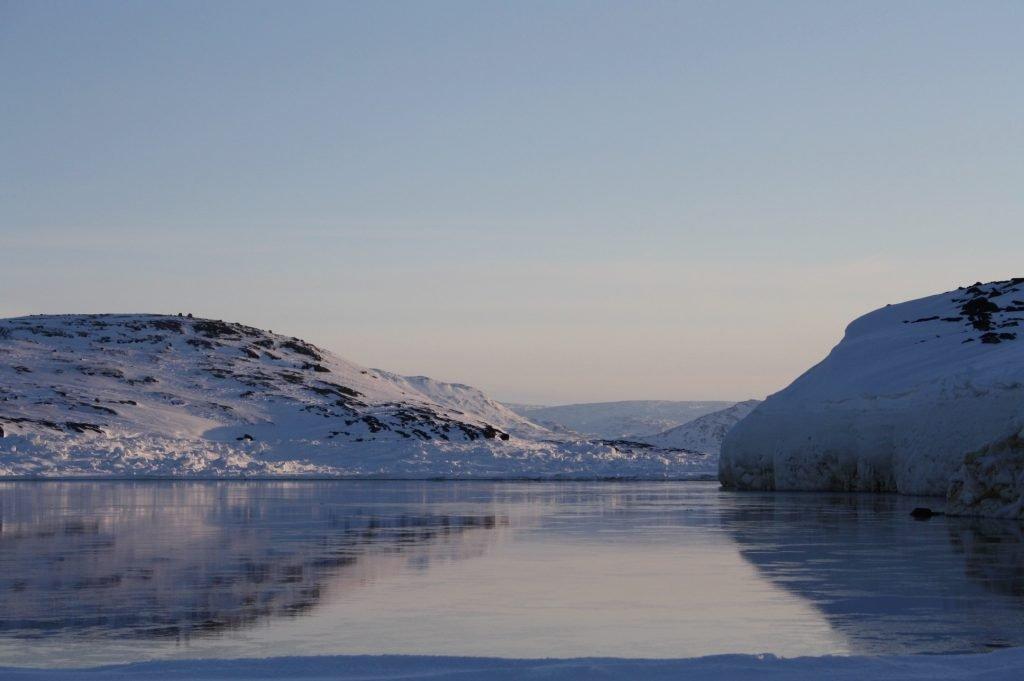 Frozen Arctic Ocean Iqaluit