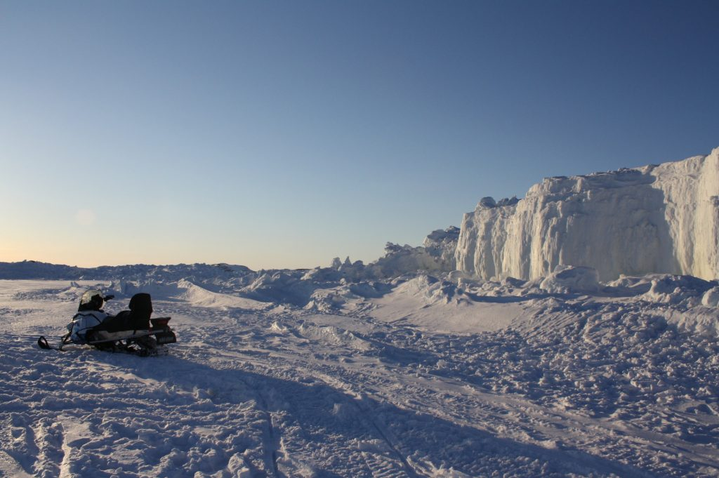 Snowmobiling in Iqaluit