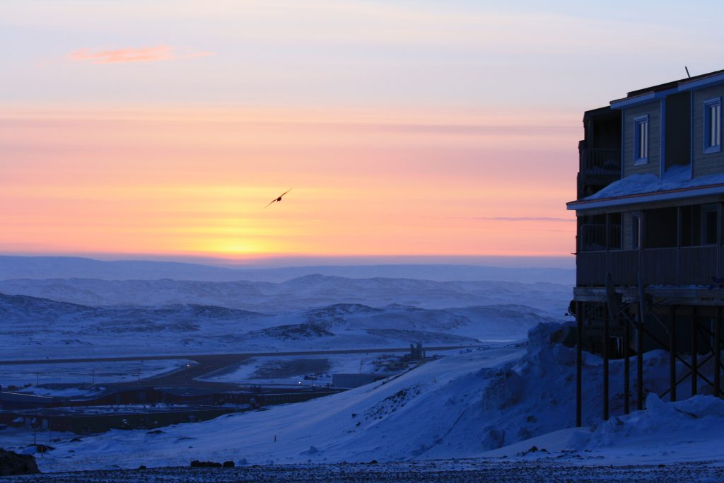 Sunset behind tundra, taken in Iqaluit Nunavut