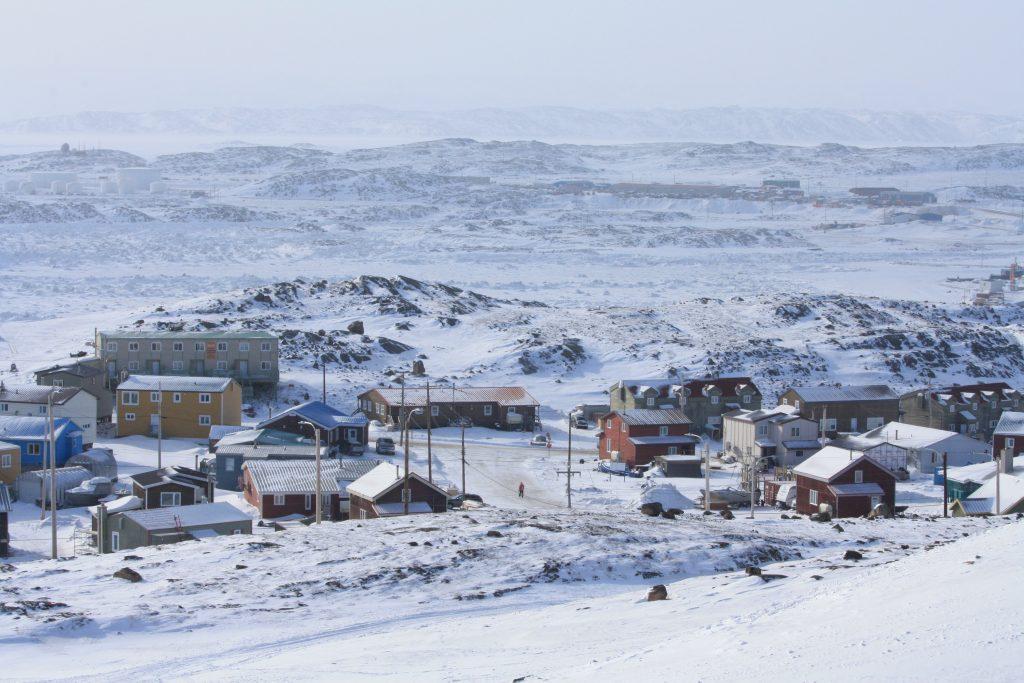 Town of Iqaluit in the Winter