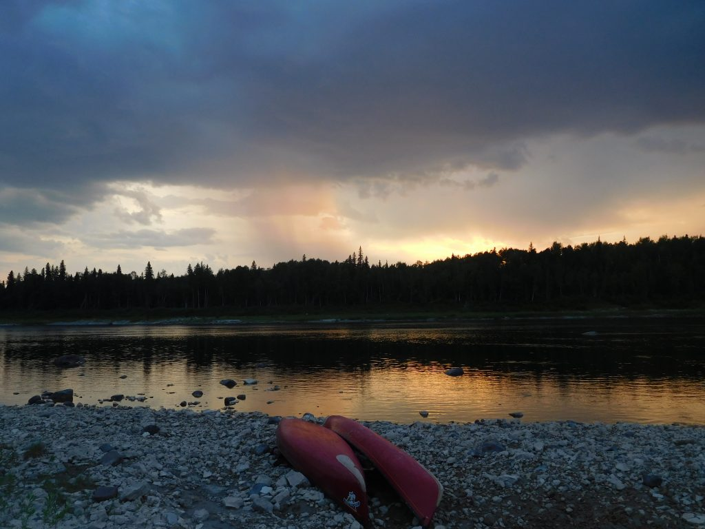 Sunset during a canoe trip on the Missinaibi River