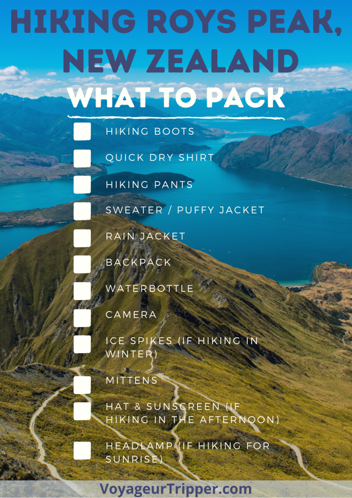 Hiking Roys Peak for Sunrise Packing List