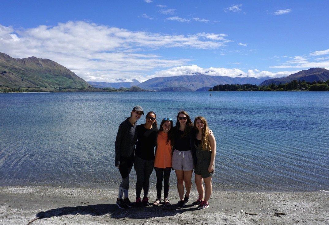 Friends near Lake Wanaka