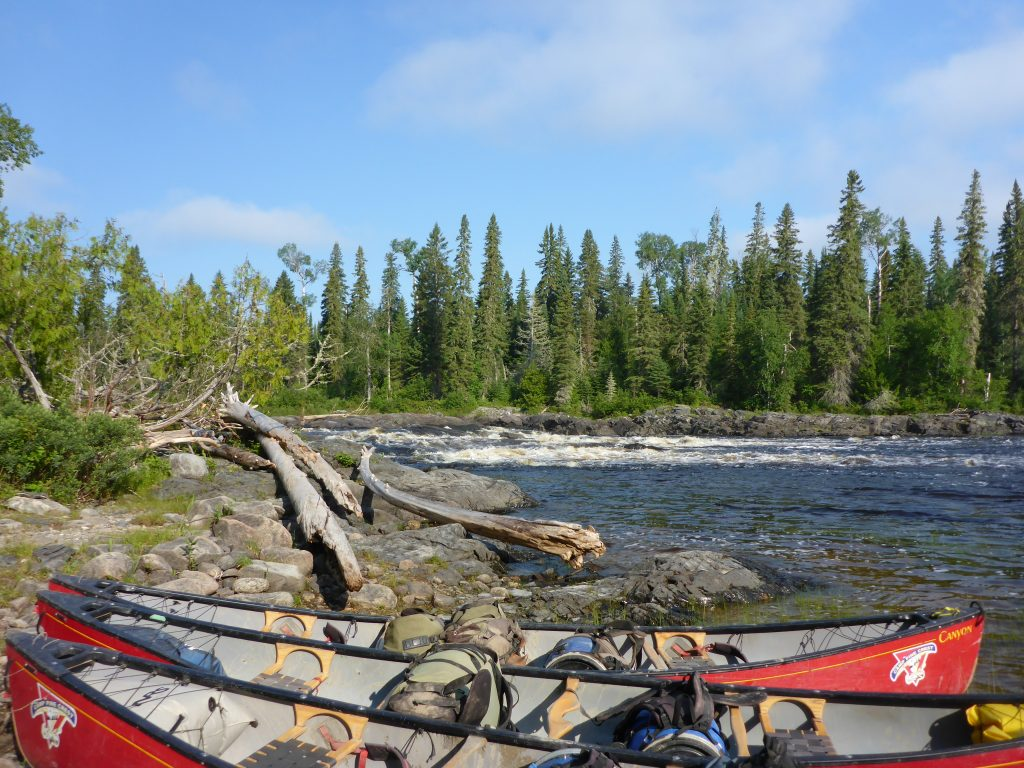 Canoeing the Missinaibi River - Boat Before a Portage