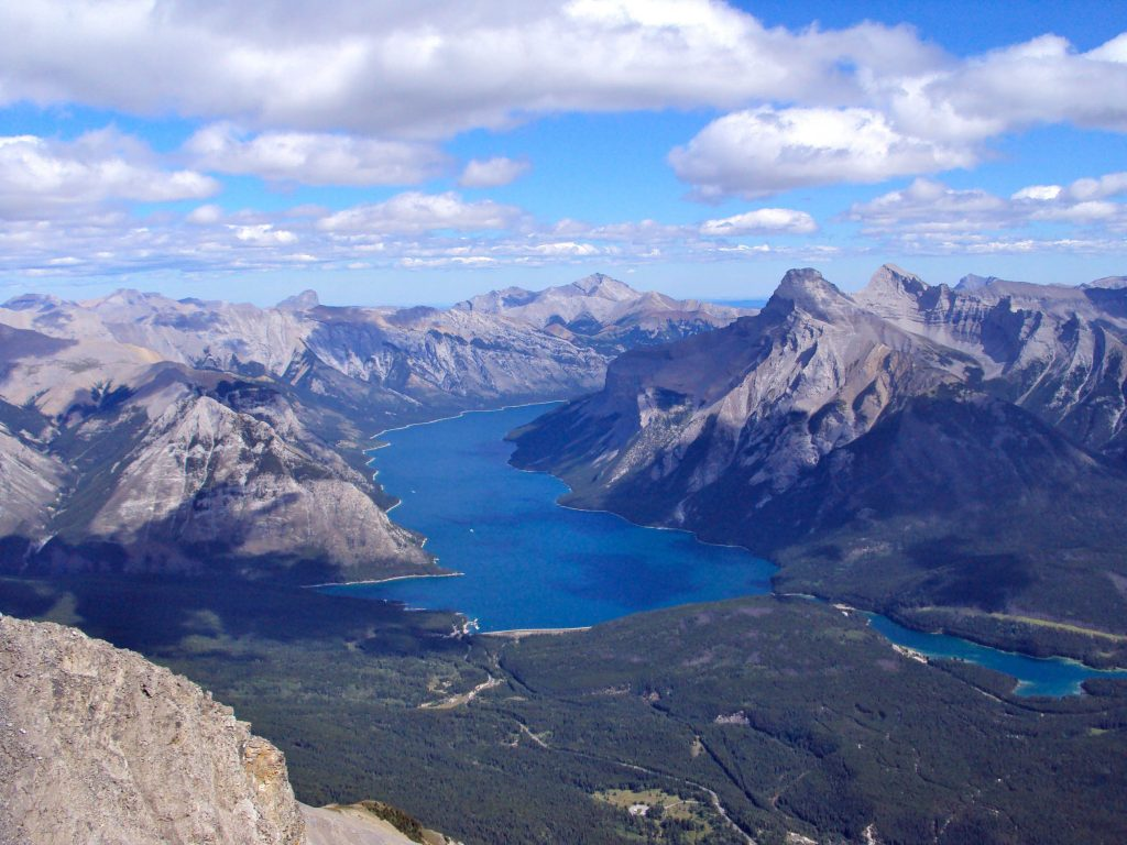 View from Cascade Mountain, one of the best hikes to do in Banff