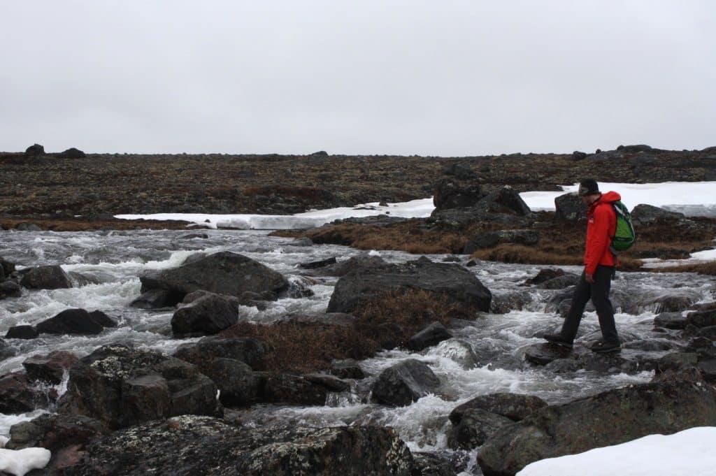 Hiking outside of Iqaluit Nunavut
